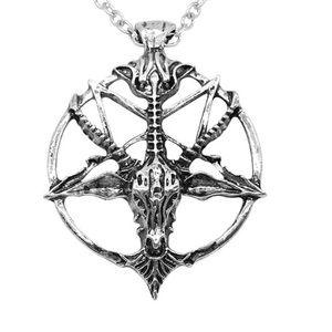 Goat Head Pentagram Satanic Necklace